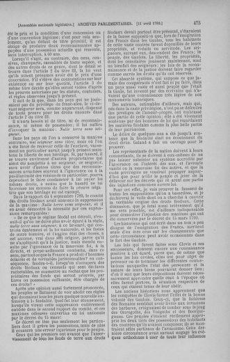 Tome 41 : Du 30 mars au 16 avril 1792 - page 475