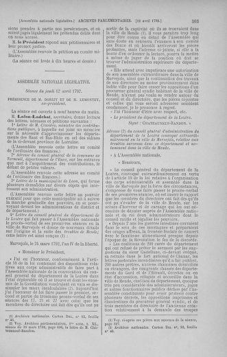 Tome 41 : Du 30 mars au 16 avril 1792 - page 505