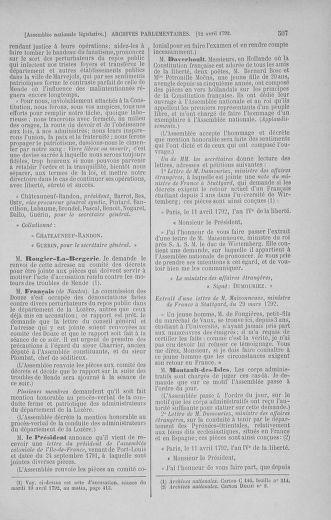 Tome 41 : Du 30 mars au 16 avril 1792 - page 507
