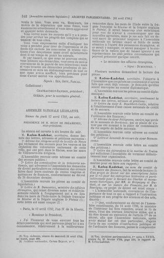 Tome 41 : Du 30 mars au 16 avril 1792 - page 542