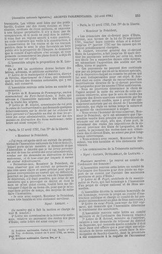 Tome 41 : Du 30 mars au 16 avril 1792 - page 553