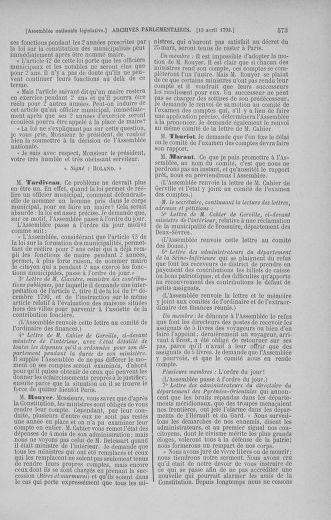 Tome 41 : Du 30 mars au 16 avril 1792 - page 573