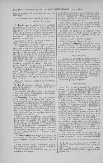Tome 41 : Du 30 mars au 16 avril 1792 - page 576