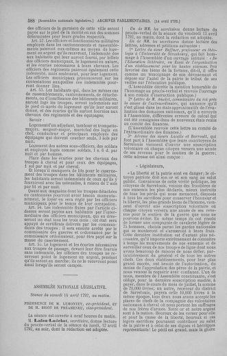 Tome 41 : Du 30 mars au 16 avril 1792 - page 588