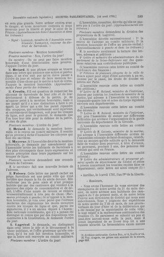 Tome 41 : Du 30 mars au 16 avril 1792 - page 589