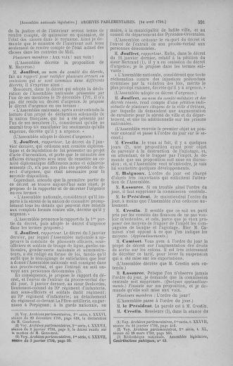 Tome 41 : Du 30 mars au 16 avril 1792 - page 591