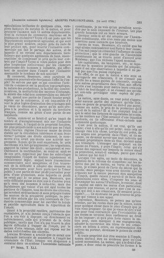 Tome 41 : Du 30 mars au 16 avril 1792 - page 593