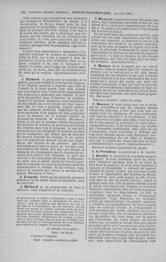 Tome 41 : Du 30 mars au 16 avril 1792 - page 600