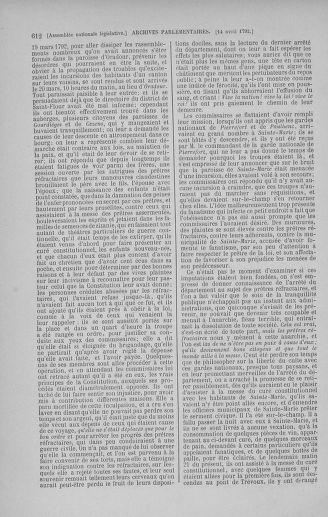 Tome 41 : Du 30 mars au 16 avril 1792 - page 612