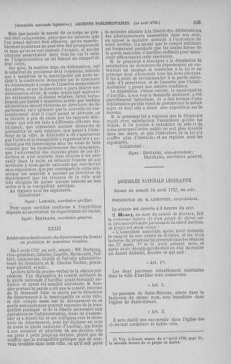 Tome 41 : Du 30 mars au 16 avril 1792 - page 635