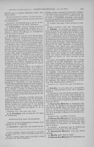 Tome 41 : Du 30 mars au 16 avril 1792 - page 695