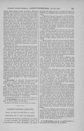 Tome 41 : Du 30 mars au 16 avril 1792 - page 697