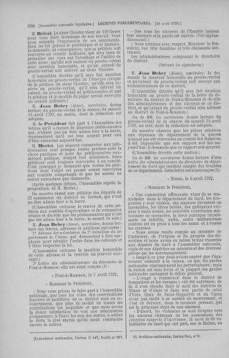 Tome 41 : Du 30 mars au 16 avril 1792 - page 698