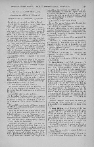 Tome 41 : Du 30 mars au 16 avril 1792 - page 723