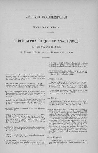 Tome 41 : Du 30 mars au 16 avril 1792 - page ..