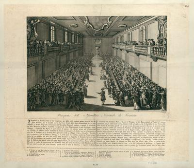Prospetto dell'Assemblea Nazionale di Francia trovavasi la Francia vicina al suo risorgimento per effetto delle prudenti misure prese dal suo augusto monarca... : [estampe]