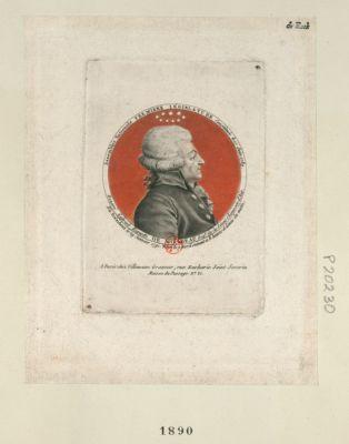 Honoré Gabriel Riquetti de Mirabeau dep.e de la sénéchaussée d'Aix elu président le 29 janvier 1791, mort le 2 avril suivant à 8 heures et demie du matin : Assemblée nationale première législature constituée le 17 juin 1789 : [estampe]