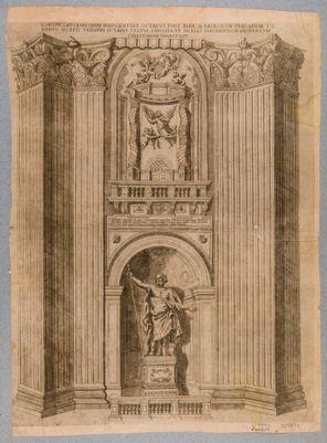 Chiesa di S. Pietro in Vaticano. Pilastro di S. Longino