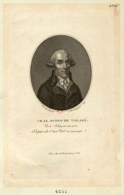 Ch. El. Dufriche Valazé né à Alençon en 1752, député à la Conv. nat. le en 1792 et 1793 : [estampe]