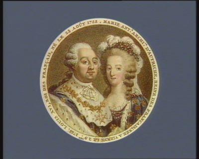Louis XVI , Roi des Français, né le 23 août 1753 [i.e. 1754] Marie Ant.e archi.se d'Autriche, Reine des Français, née à Vienne le 2 9bre 1755 : [estampe]
