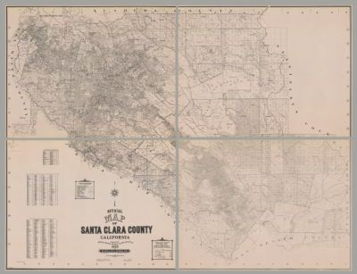 Santa Clara County Latest Street Map Cartographic Material Zip