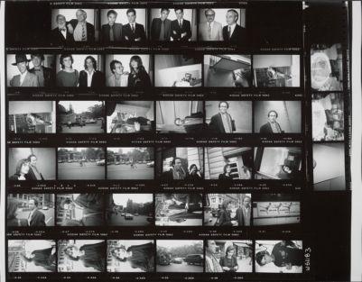 [Henry Geldzahler and David Hockney; New York streets scenes around Union Square; Steve Aronson and Evgenia (?) on the street]