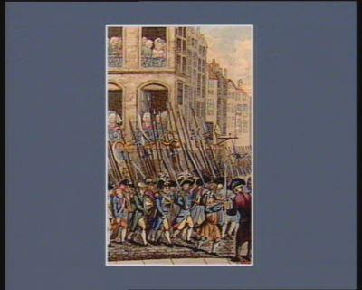 Formation de la Garde nationale le 13 juillet a cinq heures du soir, toutes les classes de citoyens se rendirent armées a la place de Greve... : [estampe]