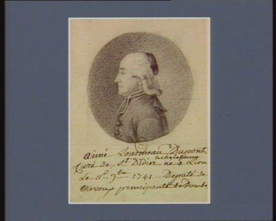 Aimé Lousmeau Dupont curé de Saint-Didier de Chalaronne né à Lion le 11 9.bre 1741 député de Trévoux principauté des Dombes : [dessin]