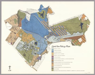 Land Use Policy/Plan [from Livingston & Blayney study]. Color coded map of land uses for entire University acreage