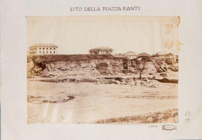 Mura Serviane, scavo eseguito per la piazza M. Fanti