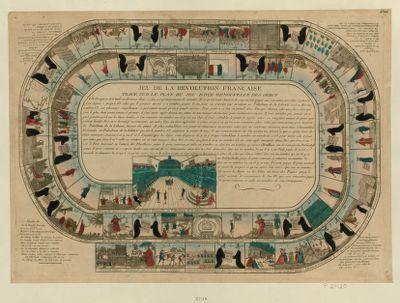 Jeu de la Revolution française tracé sur le plan du d'oye renouvellé des Grecs : [estampe]