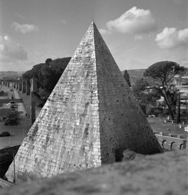 Pyramid of Caius Cestius, north and east sides