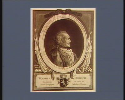 Wander Mersch generalisme <em>en</em> chef de l'armée <em>belgiques</em> catholique romain : ou vaincre ou mourir, vive <em>la</em> liberté : [estampe]