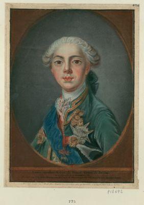 Louis-Stanislas-Xavier de France, comte de Provence né à Versaille le 17 novembre 1755 : presenté au Roy et a Monseigneur le comte de Provence par leur très respectueux serviteur Bonnet : [estampe]