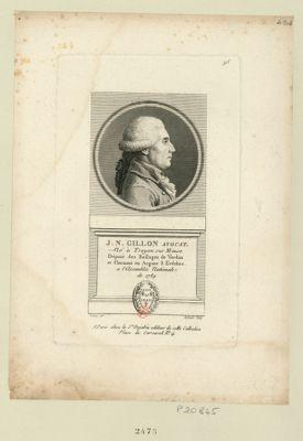 J.N. Gillon avocat né à Troyon sur Meuse député des baillage de Verdun et Clermont en Argone 3 evêches a l'Assemblée nationale de 1789 : [estampe]