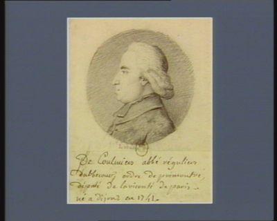 De Coulmiers abbé régulier d'Ablecourt ordre de Prémontré député de la vicomté de <em>Paris</em> né à Dijon en 1741 : [dessin]