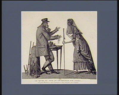 Le  Riche du jour ou le Préteur sur gages je prête Madame, à mes concitoyens à deux cent pour cent d'intérêts : [estampe]
