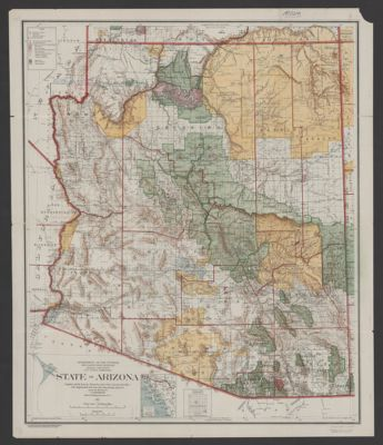 International travel maps, Arizona & New Mexico, scale 1:900,000 ...