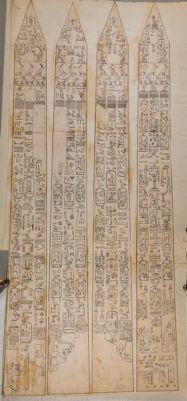 Quattro prospetti di obelisco