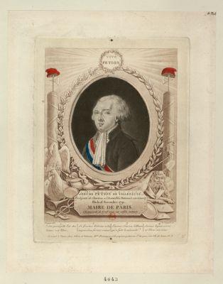 Jérôme Petion de Villeneuve ex député de Chartres, a l'Assemblée nationale constituante élu le 16 novembre 1791 maire de <em>Paris</em> à la majorité de 6708 voix sur 10632 votants : Vive Petion... : [estampe]