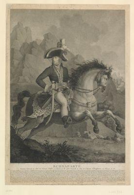 Buonaparte nommé général en chef de l'armée d'Italie en ventose, an IV, puis général en chef de l'armée d'Angleterre en frimaire an VI... : [estampe]