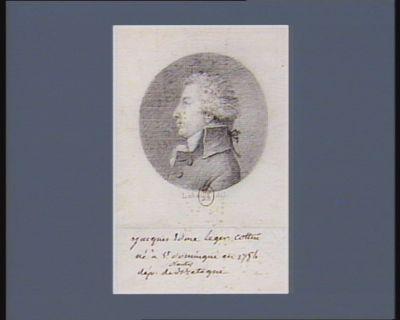 Jacques Edme Léger Cottin né à St Dominique en 1754 député de Nantes en Bretagne : [dessin]