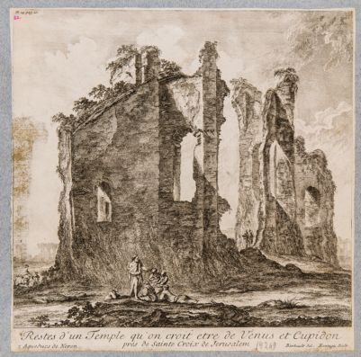 Restes d'un Temple qu'on croit etre de Venus et Cupidon pres de Sainte Croix de Jerusalem