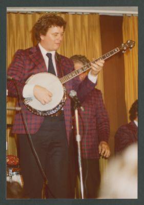 John Gill playing banjo