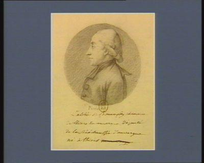 <em>L</em>' Abbé de Bonnefoy chanoine de Thiers en Auvergne député de la sénéchaussée d'Auvergne né à Thiers : [dessin]