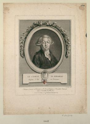 Honoré Riquetti Mirabeau (ci devant comte de) député d'Aix en Provence, president de l'Assemblée n.ale, administrateur du dép.t de Paris, mort le 2 avril 1791 agé de 41 ans passé : [estampe]