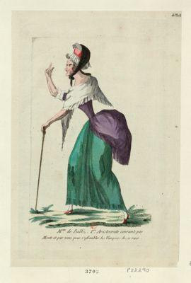 Mme de Balb... 1.re aristocrate courant par monts et par vous pour r'assembler les vampires de sa race [estampe]