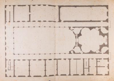 Palazzo della Sapienza. Pianta generale del piano terreno