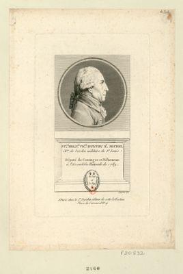 Sta.las B.nard Pierre Vicomte d'Ustou St Michel Ch.er de l'ordre militaire de St Louis né à l'Isle de St Domingue le 16 juillet 1739 député de la nob.sse de Cominges &c. aux Etats gen.aux de 1789 : [estampe]