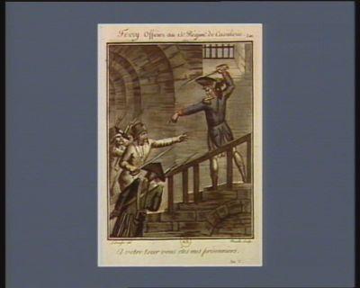 Ferry officier du 15.e regiment de cavalerie a votre tour vous êtes mes prisonniers. An V : [estampe]
